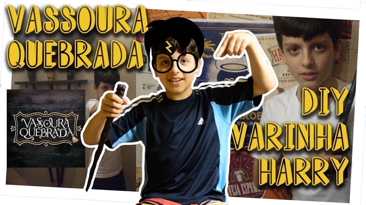 VASSOURA QUEBRADA HAMBURGUERIA + DIY VARINHA HARRY POTTER