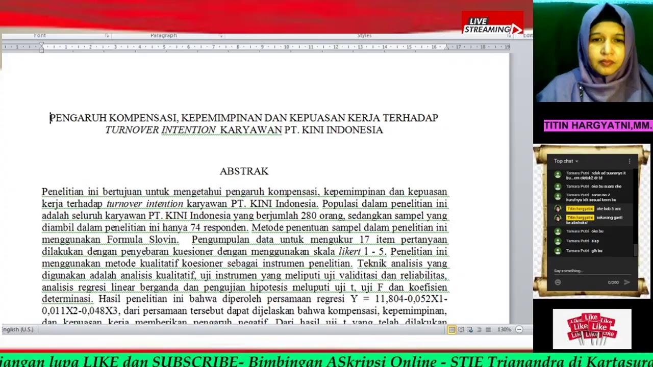 Jangan Menyerah Mengerjakan Skripsi Bimbingan Skripsi Online Stie Trianandra Kartasura Youtube