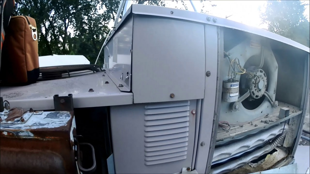 Neglected Bryant Rooftop Unit Cracked Heat Exchanger