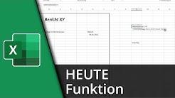 Excel-Funktionen #15 | =HEUTE() [Deutsch/HD]