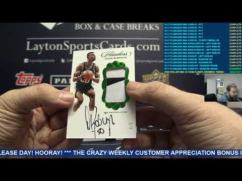 2016 17 Panini Flawless Basketball Hobby 2 Box Case Break #11 – RANDOM TEAMS