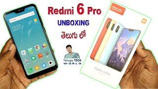 Xiaomi Redmi 6 Pro Smartphone Unboxing And Review In TELUGU