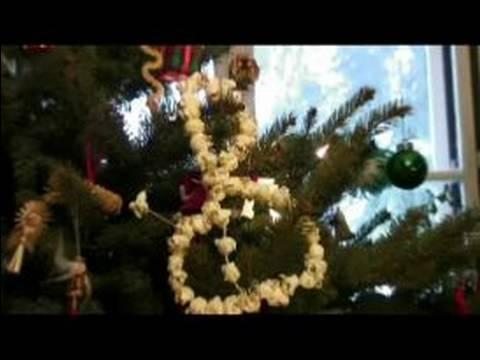 Popcorn Christmas Garland Hanging Popcorn Christmas Tree