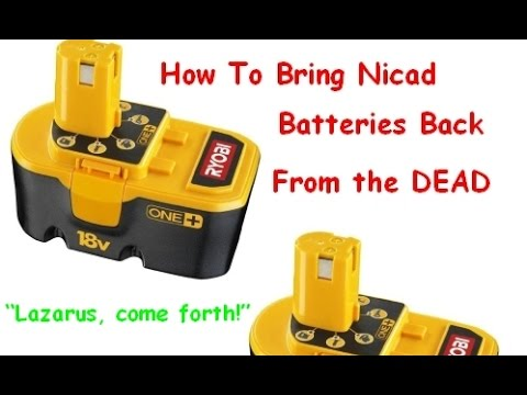 How to Bring NI-CAD Drill Batteries Back to Life &amp Make Them Charge Again - Ryobi