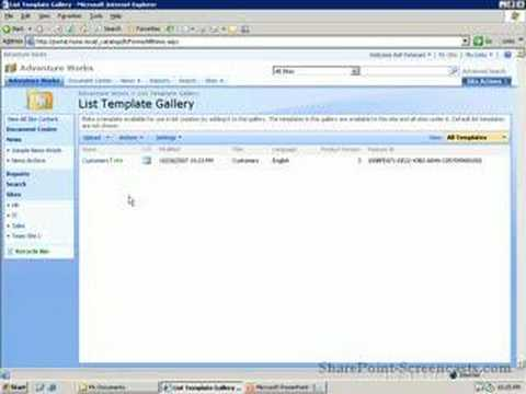 Copying Lists between SharePoint sites - YouTube