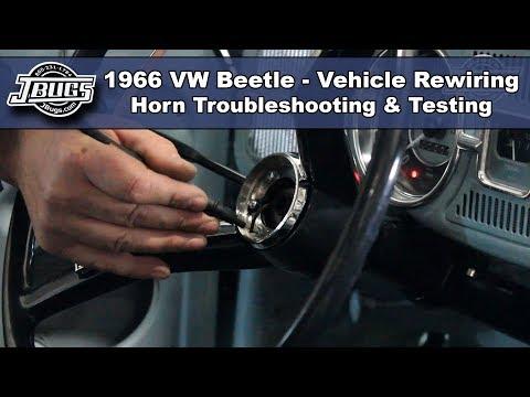 JBugs - 1966 VW Beetle - Vehicle Rewiring - Horn Troubleshooting