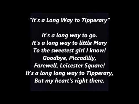 IRISH SONGS  It's a Long Way to Tipperary words lyrics Irish Sing Along Irish music