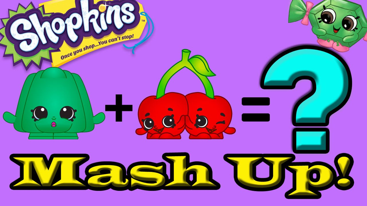 SHOPKINS MASHUP! How To Draw Step By Step Custom New Shopkins Cheeky Cherry  U0026 Wobbles Mash Tutorial   YouTube