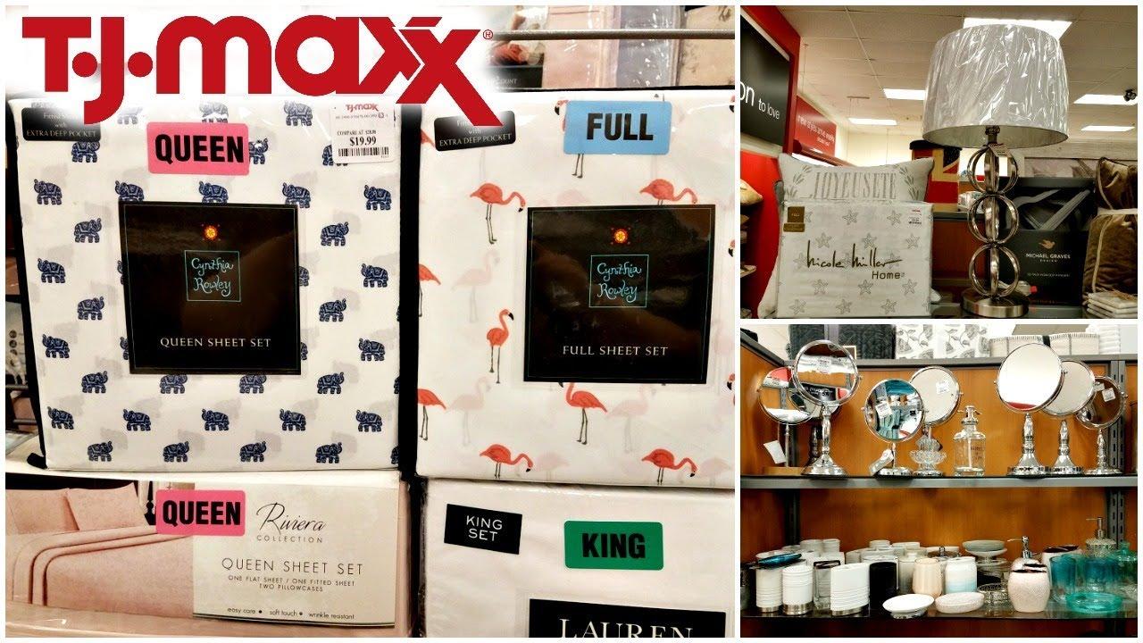 Shop With Me Tj Maxx Bedding Bathroom Decor Ideas Cynthia Rowley Dkny Walk Through 2018 Youtube