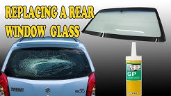 GLASS INSTALL !! How to Replace a Rear Window glass paste car in easy way