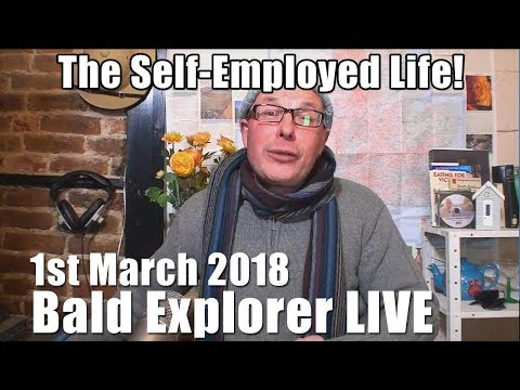 Bald Explorer  WAS LIVE Show - Self Employed Life on World Book Day!