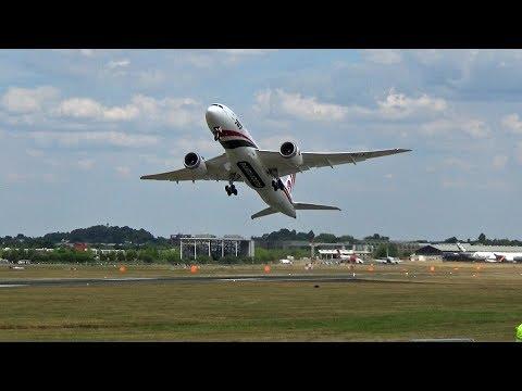 🇧🇩 Biman Bangladesh Airlines Boeing 787-8 Full Display Farnborough Airshow