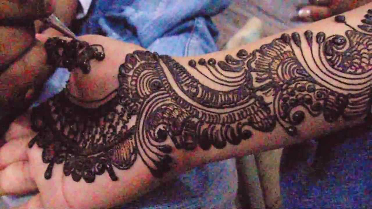 Full Hand Bridal Arabic Mehndi Design-How To Make Henna Mehndi Art Design  For Hand