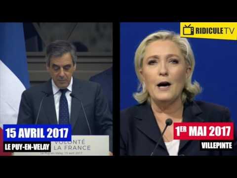 Quand Marine Le Pen plagie MOT POUR MOT un discours de Fillon !