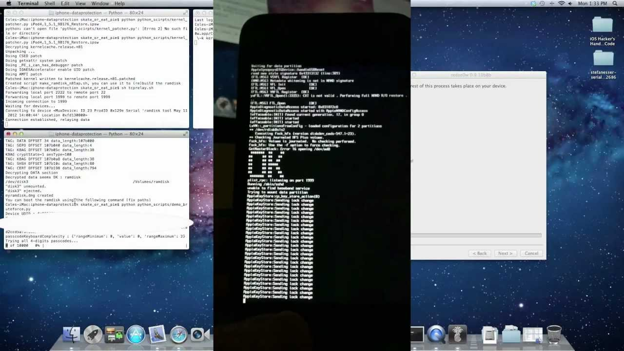 Brute-Force Four Digit Passcode iPhone 4