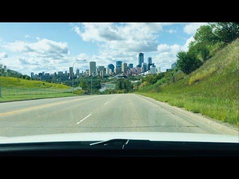 Edmonton Alberta - Baseline Road - 101 Avenue  to Downtown