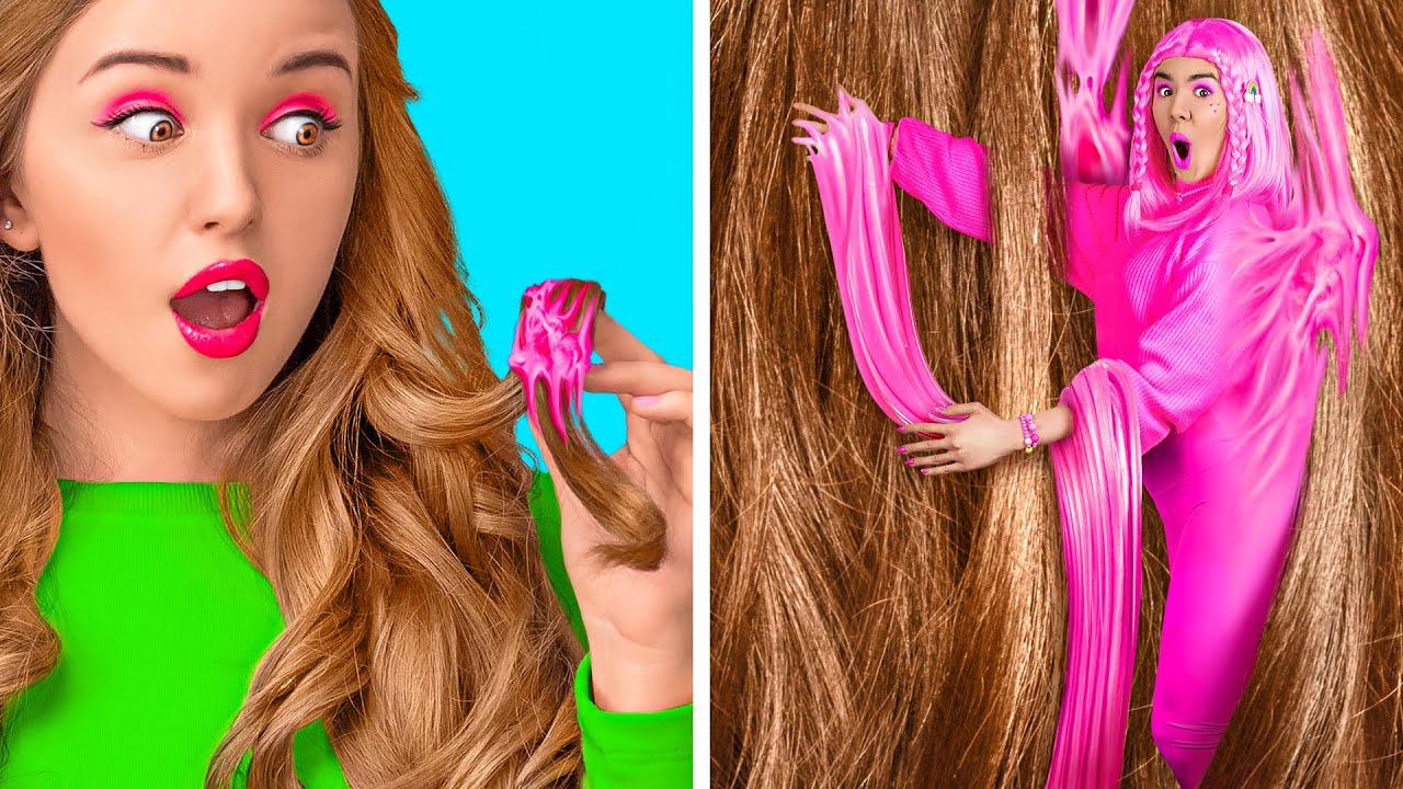 SHORT HAIR VS LONG HAIR PROBLEMS || Funny Hair Struggles by 123 GO Like!
