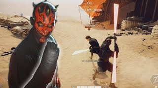 Darth Maul fists the battlefield