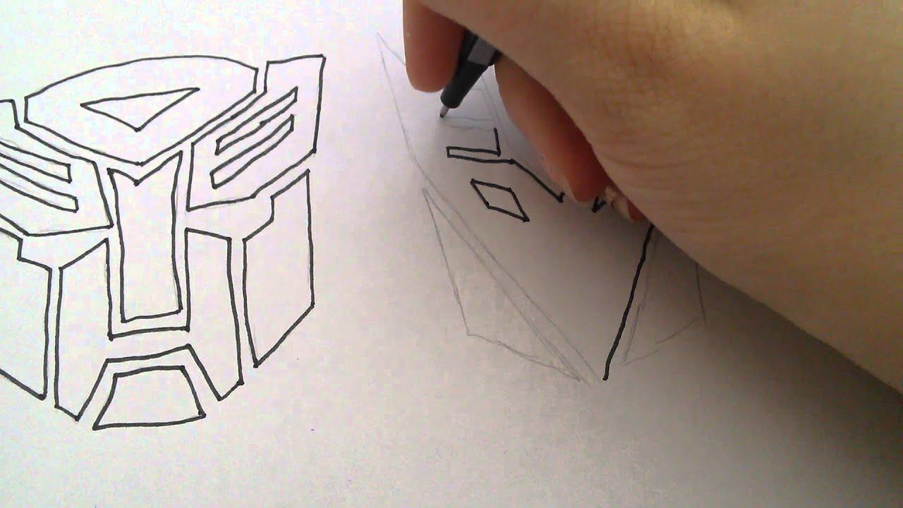 Transformers Logo Decepticons zeichnen  YouTube