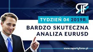 Tydzień 04 2019 roku. Raporty Forex. Bardzo Skuteczna Analiza Tygodniowa EURUSD 22.01.2019