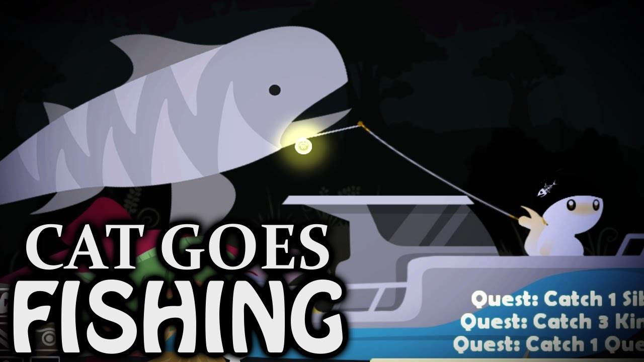 Tiger shark fail cat goes fishing kootra let 39 s play for Fish cat game
