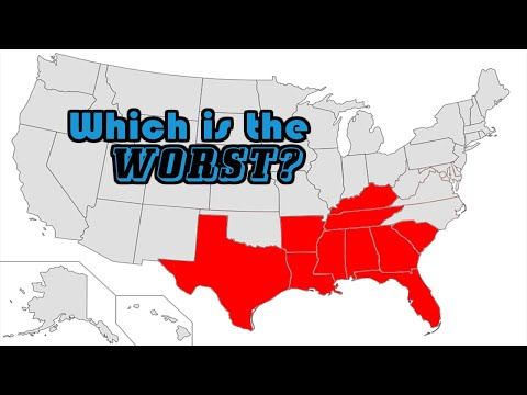 SOUTHERN STATES Ranked WORST To BEST