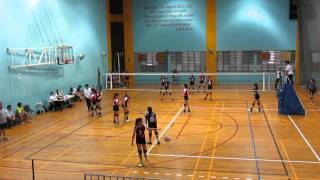 2016 B Div Girls National PHS vs QSS 2-0 1st set