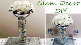 Dollar Tree DIY Tall Glam Bling Wedding Centerpiece