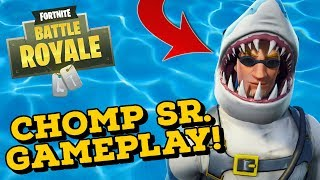 CHOMP SR. Skin Gameplay! In Fortnite Battle Royale..