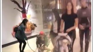 LizQuen spotted nagshopping kasama ang kanilang baby. August 8
