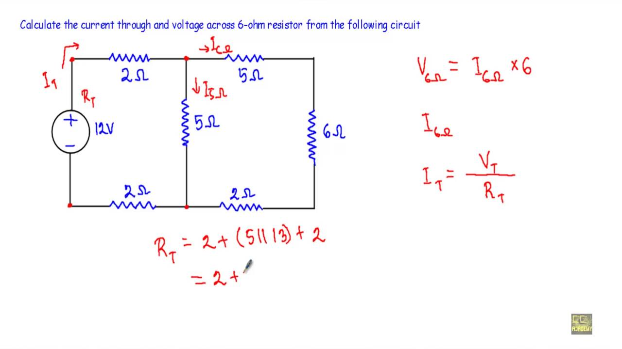 current and voltage in complex series parallel circuit 1 youtube rh youtube com Series Parallel Circuit Worksheet Parallel Circuit Diagram