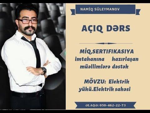 Elektrik Dərsləri 1. Elektrik Cərəyanı Nədir?