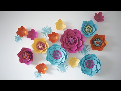 Diy How To Giant Paper Flower Backdrop Giant Paper Flower