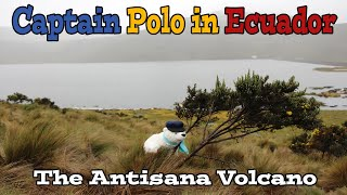 Climate adventurer Polo the Bear visits the Antisana volcano in the Andes of Ecuador