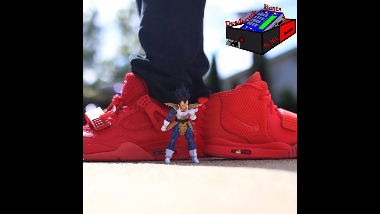 052400488 Jordan 4 Custom (AmmoSkunk) VS Nike Air Yeezy 2 (Authentic) Red Octobers  (eXimus Beat)