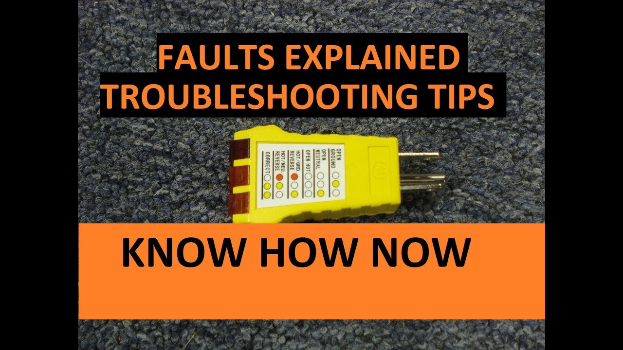 small resolution of how to use a receptacle tester troubleshoot outlet