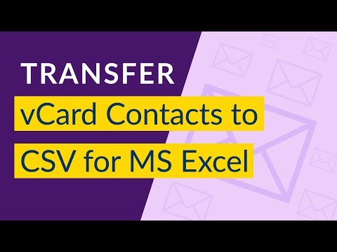 How To Convert VCard To CSV I Import VCard To CSV For Excel I VCard To Excel XLS Converter