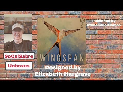 Wingspan Board Game Unboxing |