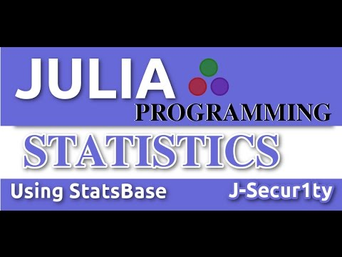 Data Analysis and Statistics With Julia Language