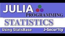 Data Analysis and Statistics With Julia Language