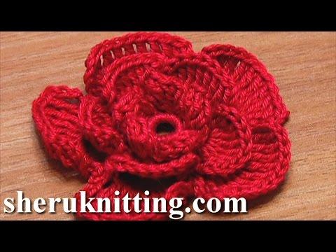 Crochet Rose Flower Tutorial 20 Youtube