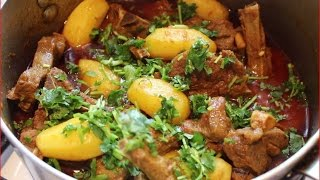 Lamb chop curry with baby potatoes