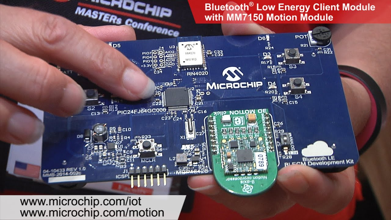 Bluetooth® Low Energy Client Module with Motion Module MM7150 Demonstration  – MASTERs 2015