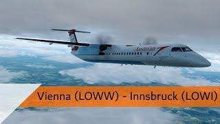 P3D V4.3 Full Flight - Austrian Dash 8 Q400 - Vienna to Innsbruck (LOWW-LOWI)