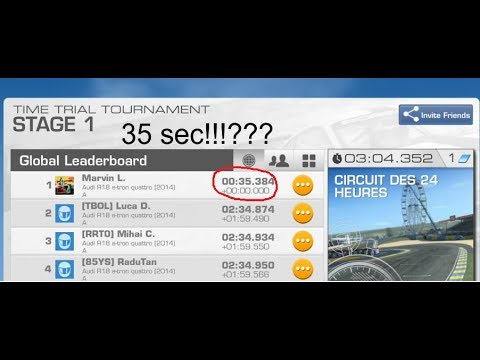 Real Racing 3-Bug Or Cheater?Le Mans In 35secs!