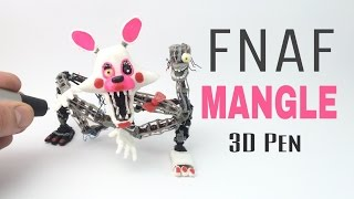 3D Pen How to make Mangle from FNAF Como hacer a Mangle con el lapiz o pluma 3D TUTORIAL