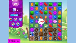 Candy Crush Saga Level 470 40 moves NO BOOSTERS Cookie
