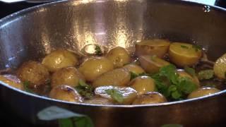Блюдо дня. Черноморская камбала с молодым картофелем