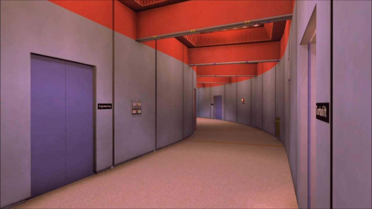 Corridor of U.S.S. Enterprise NCC-1701 D | Star trek decor |Uss Enterprise Corridors