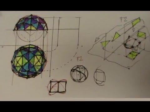 Cúpula semiesférica hexaédrica de frecuencia 2
